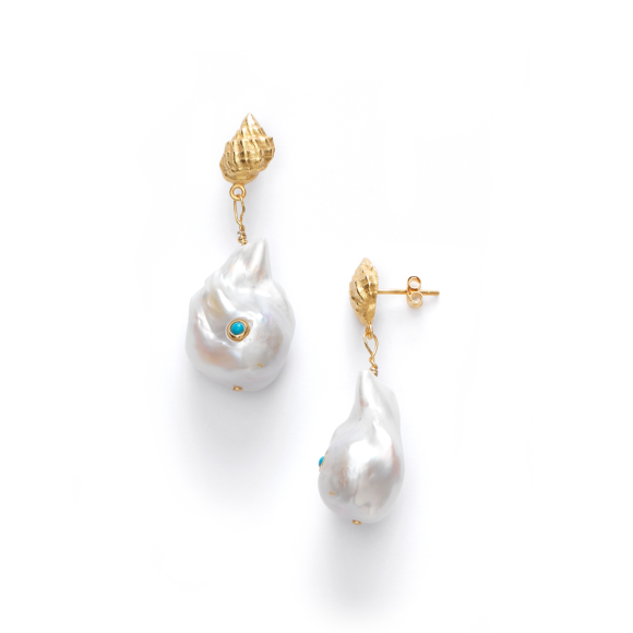 Anni Lu - Baroque Pearl Shell Turquoise