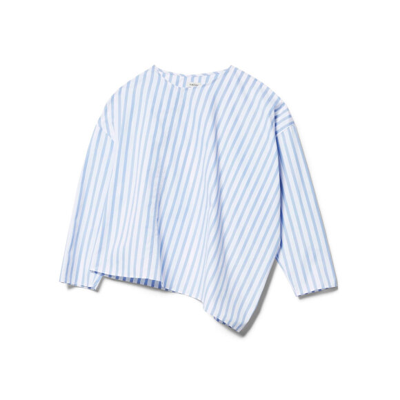 Toteme - Moulins Blouse Blue Stripe