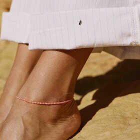Anni Lu - Wave Anklet Seashell Pink