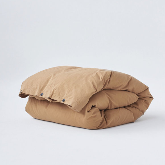 TEKLA - Duvet Cover Ocra Brown