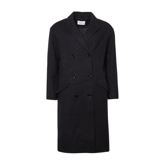 lovechild-1979- - Ada Coat Boiled Wool Black