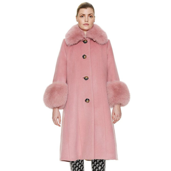 Saks Potts Gl. Valuta - Yvonne Coat Rose