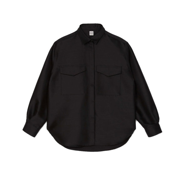 Toteme - Novella Wool Blend Shirt Black
