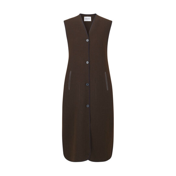 Mark Tan - Dawn Vest Twill Moss