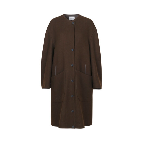 Mark Tan - Brushed Twill Coat Moss