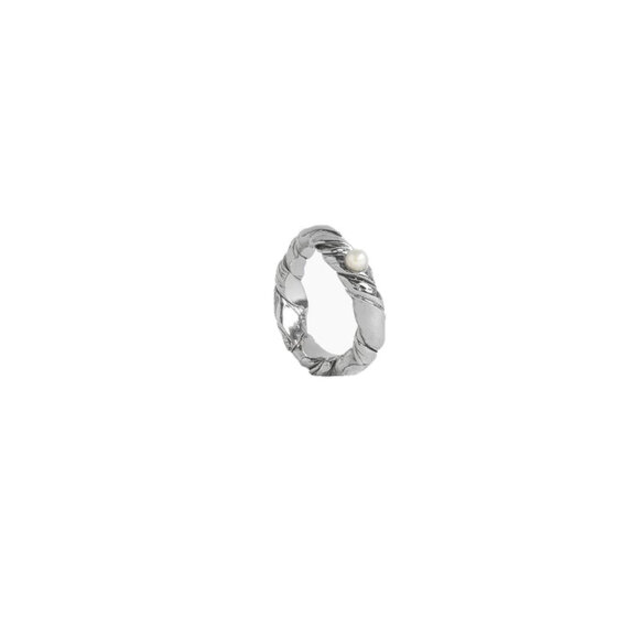 Corali - Elements One Ring Silver Pearl