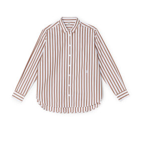 Toteme - Capri Shirt Rust Stripe