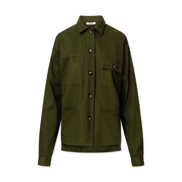 nué notes - Adeen Soft Cotton Twill Army