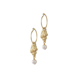 Anni Lu - Floating Shell Hoop Gold