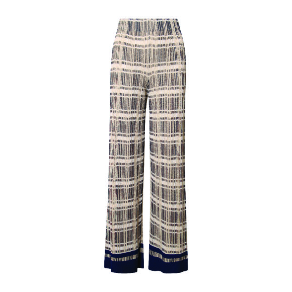 M Missoni - Knitted Pants Navy/Yellow/White