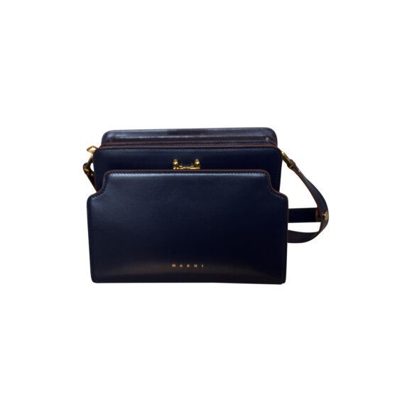 Marni - Trunk Reverse Bag Navy/Brown
