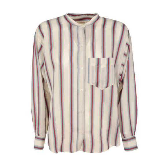Etoile Isabel Marant - Satchell Shirt White/Red/Blue