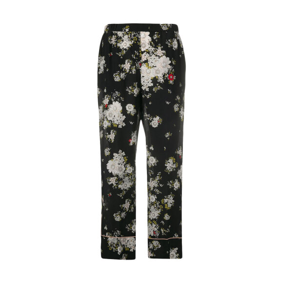 No 21 - Pants Black With Flowers