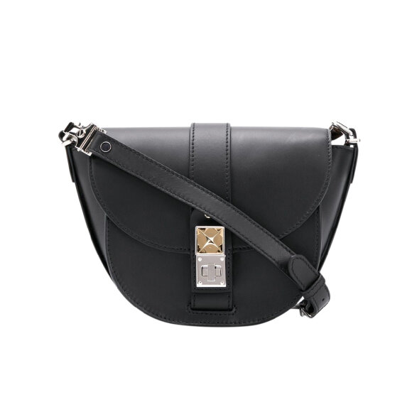 Proenza Schouler - PS11 Small Saddle Bag Black