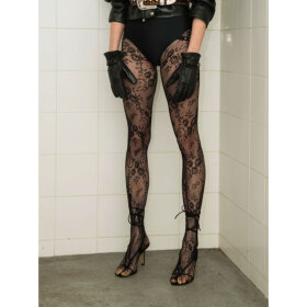 Saks Potts - Lucy Lace Tights Black
