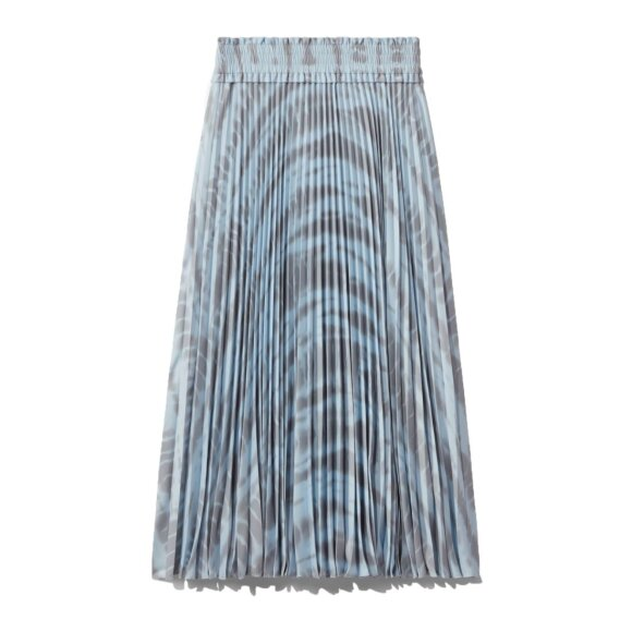 Proenza Schouler White Label - Pleated Long Skirt Light Blue/Grey Alligator