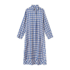 Mark Tan - Dara Silk Dress Check Blue