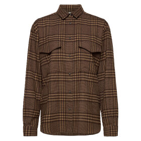 Toteme - Oversized Shirt Brown check