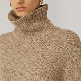 Joseph - High neck knitwear blush