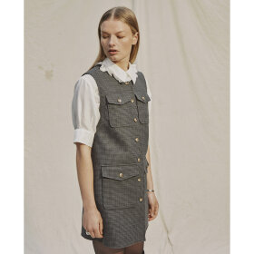 lovechild-1979- - Petrina Checkered Wool Dark Gr