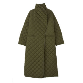 Toteme - Quilted Padded long Coat Olive