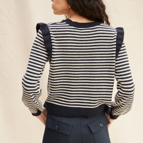 nué notes - Milo Frill Knit Navy