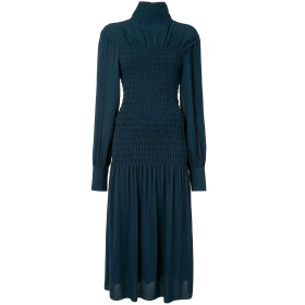 Proenza Schouler - Long Sleeve Smocked Dress Petr