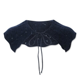 nué notes - Kelly Knitted Collar Navy