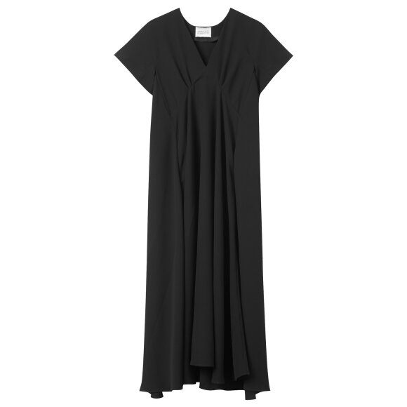 Mark Tan - Dava Crepe Long Dress Black