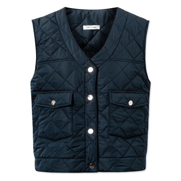 nué notes - Gianna Quilted Outerwear Navy