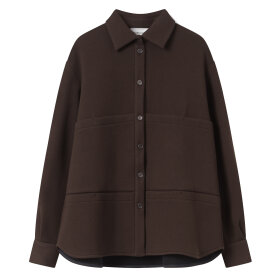 Mark Tan - Sandra Shirt Wool Birch Brown
