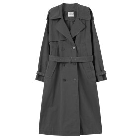 Mark Tan - Chaima Trench Coat Charcoal