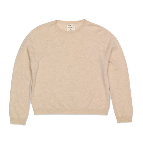 Peoples republic of cashmere - Womens Boxy O-Neck Oatmilk