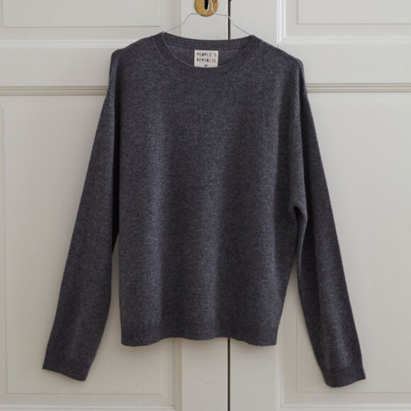 Peoples republic of cashmere - Boxy O-neck Heather Grey