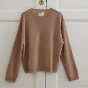 Peoples republic of cashmere - Womens Boxy O-Neck Camel