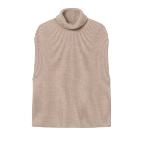 Mark Tan - Kea Turtleneck Vest Light Taup
