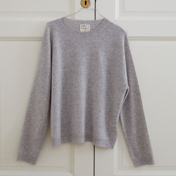 Peoples republic of cashmere - Womens Boxy O-Neck Ash Grey