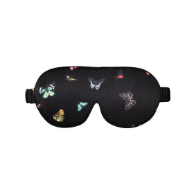The Beauty Sleeper - Silk Eye Mask Columba Black