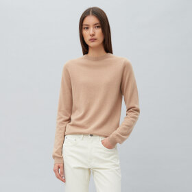 Peoples republic of cashmere - Womens Roundneck Camel