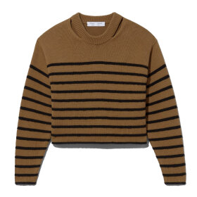 Proenza Schouler White Label - Stripe Sweater Khaki/Black