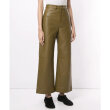 Proenza Schouler White Label - Cropped Leather Pants Military