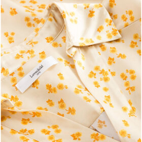 lovechild-1979- - Fiola Flower Silk Satin Lemon