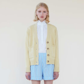 lovechild-1979- - Loui Superlamb Knit Pale Banan