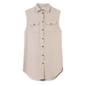 Mark Tan - Sam Cotton Twill Vest Grey