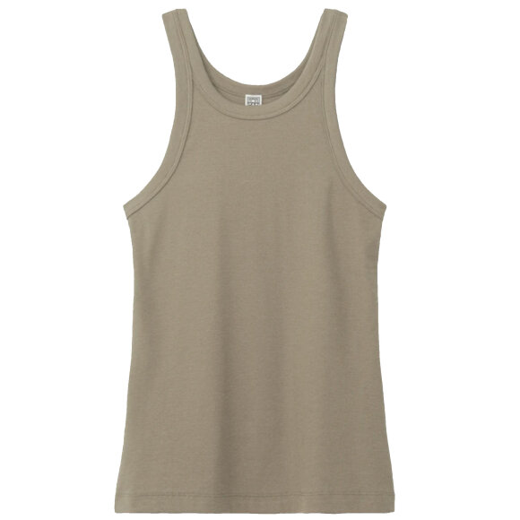 Toteme - Curved rip Tank Grey