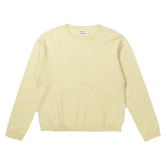 Peoples republic of cashmere - Womens Boxy O-Neck Yellow Mell