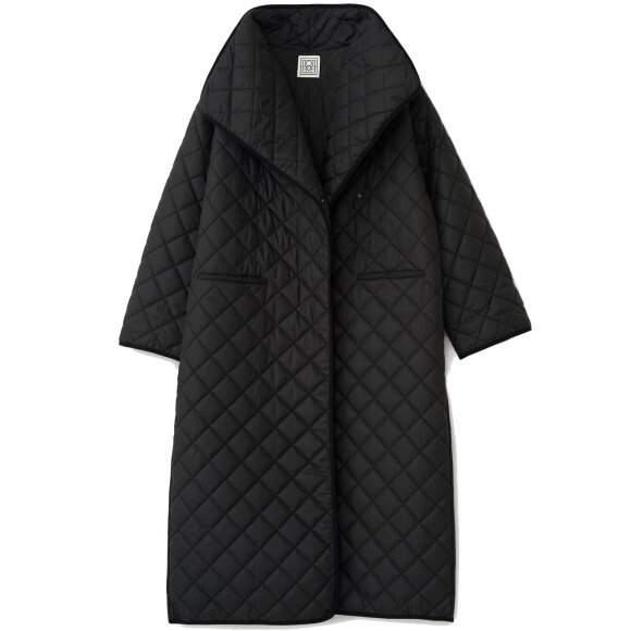 Toteme - Quilted Coat Black