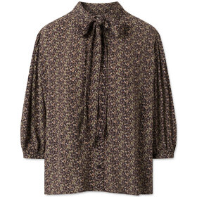 nué notes - Theo Flower Moss Crepe Peacoat
