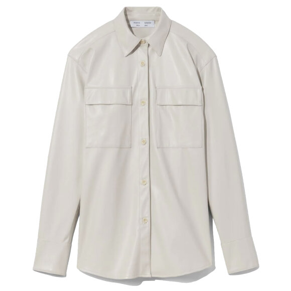 Proenza Schouler White Label - Faux Leather Shirt Off White