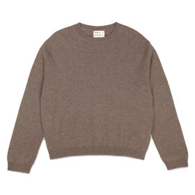 Peoples republic of cashmere - Womens Boxy O-Neck Truffle